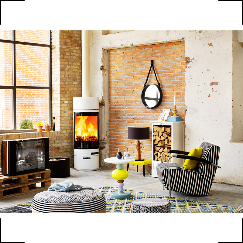interior with fire place